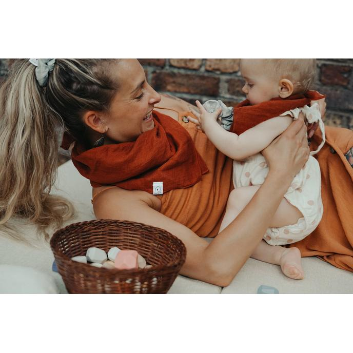 pack duo foulards lin Terracotta