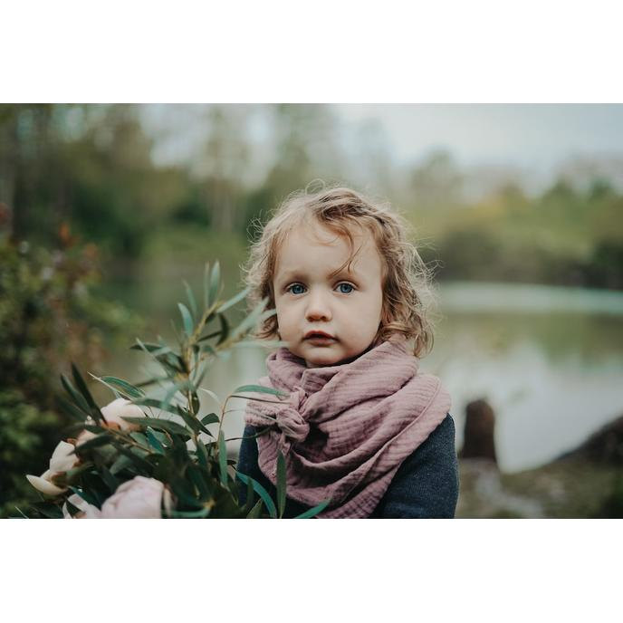 foulard gaze de coton Marsala