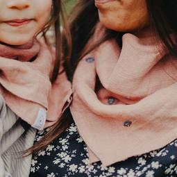 pack duo foulards lin  Pivoine