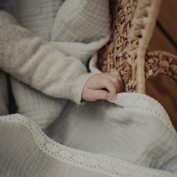 Couverture coton Gris perle