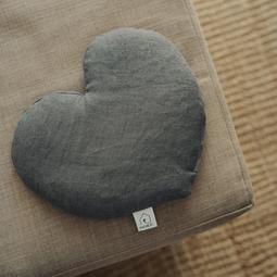 Bouillotte cœur lin Ardoise