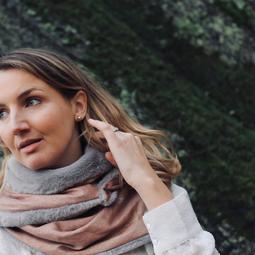 foulard terracotta doré