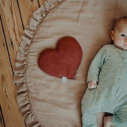 Bouillotte cœur lin Terracotta