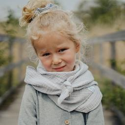 Foulard gaze de coton Gris perle