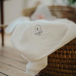 Couverture coton Blanc